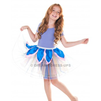 Blue and Pink Flower Tutu
